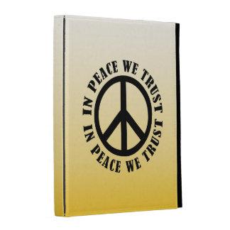 In Peace We Trust iPad Folio Covers