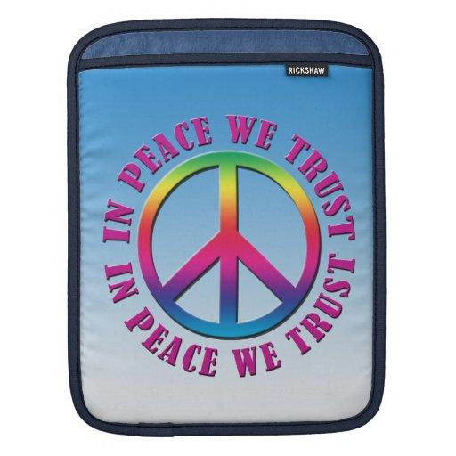 In Peace We Trust iPad Sleeves