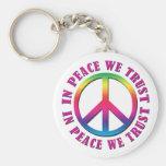 In Peace We Trust Key Chain