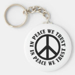 In Peace We Trust Keychains