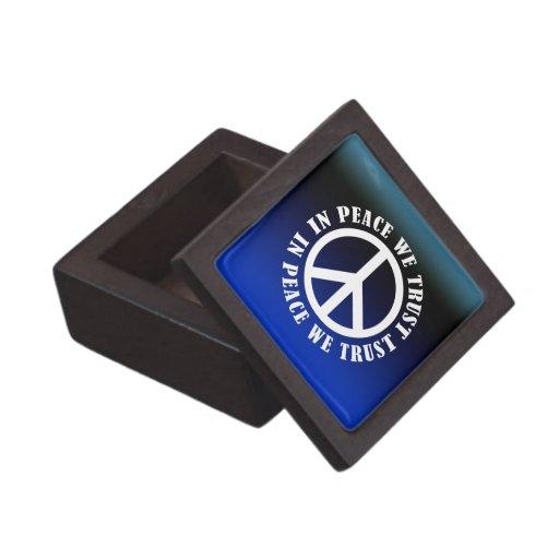 In Peace We Trust Premium Jewelry Boxes