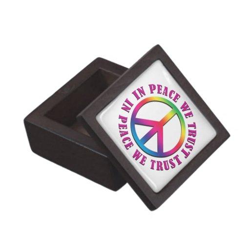 In Peace We Trust Premium Trinket Box