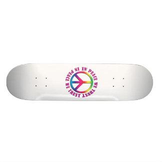 In Peace We Trust Skateboard