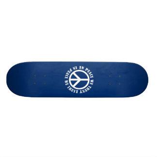 In Peace We Trust Custom Skate Board