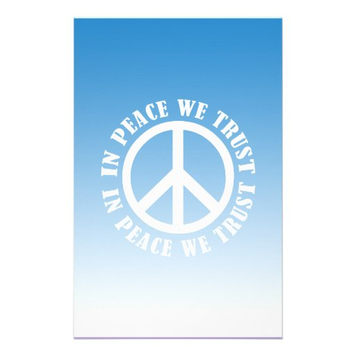 In Peace We Trust Stationery