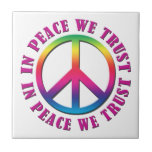 In Peace We Trust Tile
