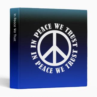 In Peace We Trust Vinyl Binders