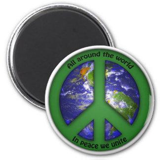 In Peace We Unite Magnet