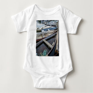 In Perkins Cove, Maine, row boats Baby Bodysuit