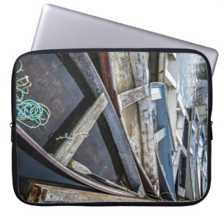 In Perkins Cove, Maine, row boats Laptop Sleeve