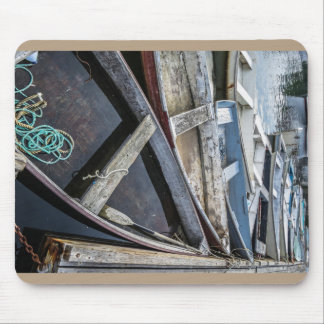 In Perkins Cove, Maine, row boats Mouse Pad