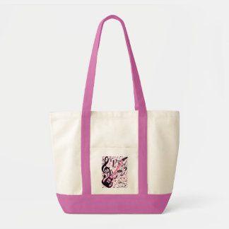 In Pink,Rock & Roll_ Canvas Bags