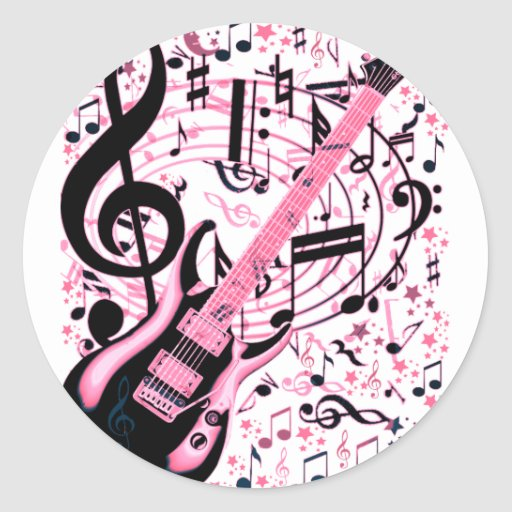 In Pink,Rock & Roll_ Classic Round Sticker