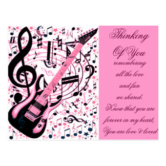 In Pink,Rock & Roll_ Postcard