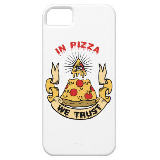 In Pizza We Trust iPhone 5 Cover