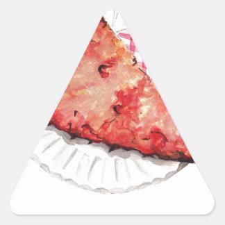 In Pizza We Trust Triangle Sticker