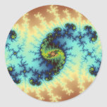 In Playcast - Fractal Art Classic Round Sticker