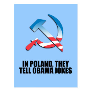 In Poland, they tell Obama jokes Post Cards