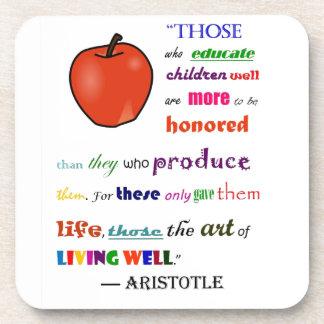 In Praise of Teachers Drink Coasters