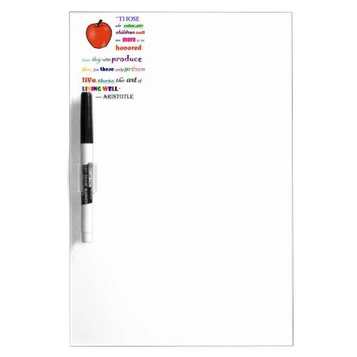 in praise of teachers dry erase board