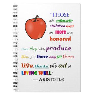 In Praise of Teachers Spiral Note Book