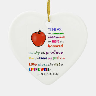 In Praise of Teachers Christmas Tree Ornaments