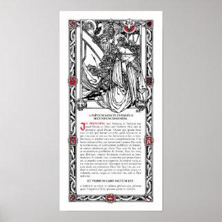 """In Principio"" Side Altar Card Posters"