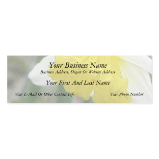 In Profile - Delicate Spring Daffodil Double-Sided Mini Business Cards (Pack Of 20)