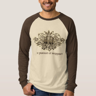 IN PURSUIT OF HOPPINESS...BEER KEG PRINT T SHIRT