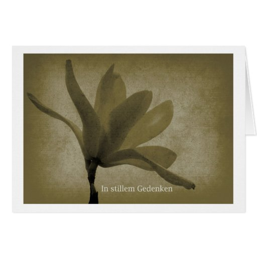 In quiet memory greeting card
