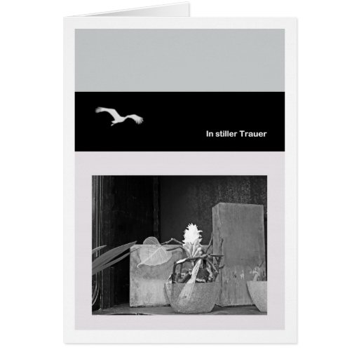 In quiet mourning greeting card