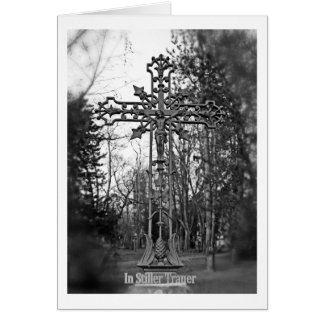 In quiet mourning mourning map greeting card