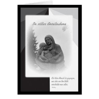 In quiet sympathy card