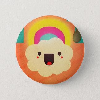In rainbows pinback button