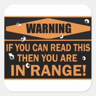 In Range Square Sticker
