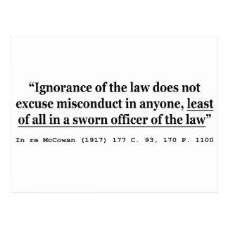 In re McCowan (1917) 177 C 93 170 P 1100 Case Law Postcard