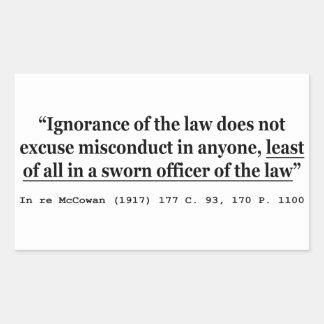In re McCowan (1917) 177 C 93 170 P 1100 Case Law Rectangular Sticker