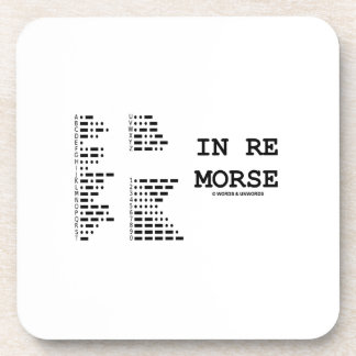 In Re Morse (Morse Code) Coaster
