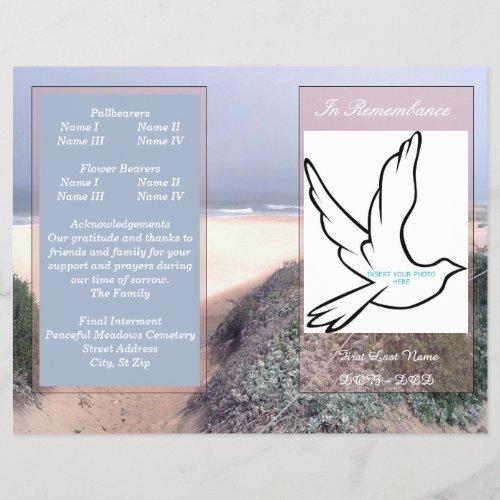 In Rememberance Funeral Program_single fold
