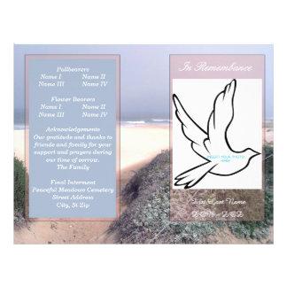 In Rememberance Funeral Program-single fold Flyer