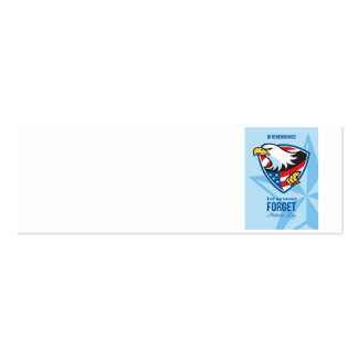 In Remembrance Let Us Never Forget Patriots Day Po Business Card Templates