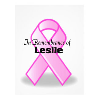 In remembrance of Leslie Custom Flyer