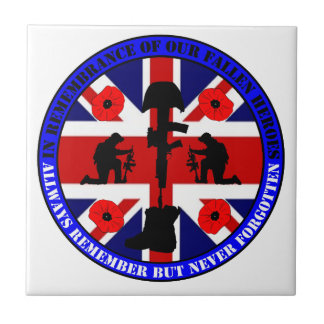 In Remembrance OF our fall UK Heroes Ceramic Tile