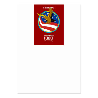 In Remembrance Patriots Day Retro Poster Business Card Templates