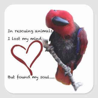 In rescue, I lost my mind, but found my soul. Square Sticker