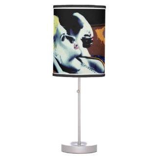 In Rolls the Morning on a table lamp