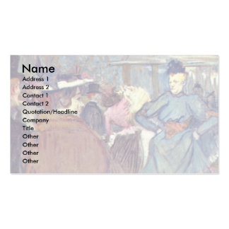 """In Rouge """": The Beginning Of The Quadrille, Business Card Templates"""