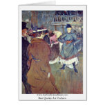 """In Rouge """": The Beginning Of The Quadrille, Greeting Cards"""