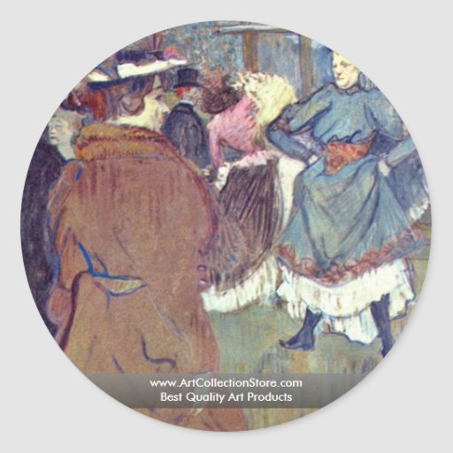 """In Rouge """": The Beginning Of The Quadrille, Sticker"""