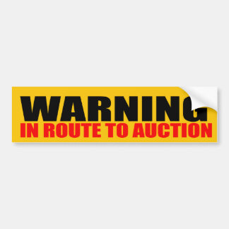 In Route To Auction Car Bumper Sticker